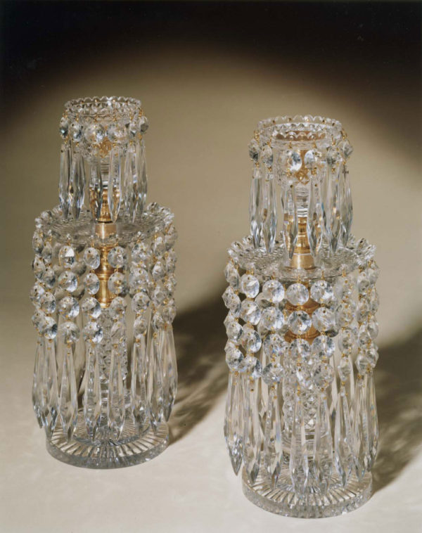 A Pair of Regency Two Tier Lustres