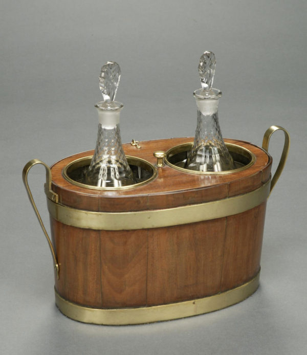 A Rare George III Mahogany and Brass Champagne Cooler