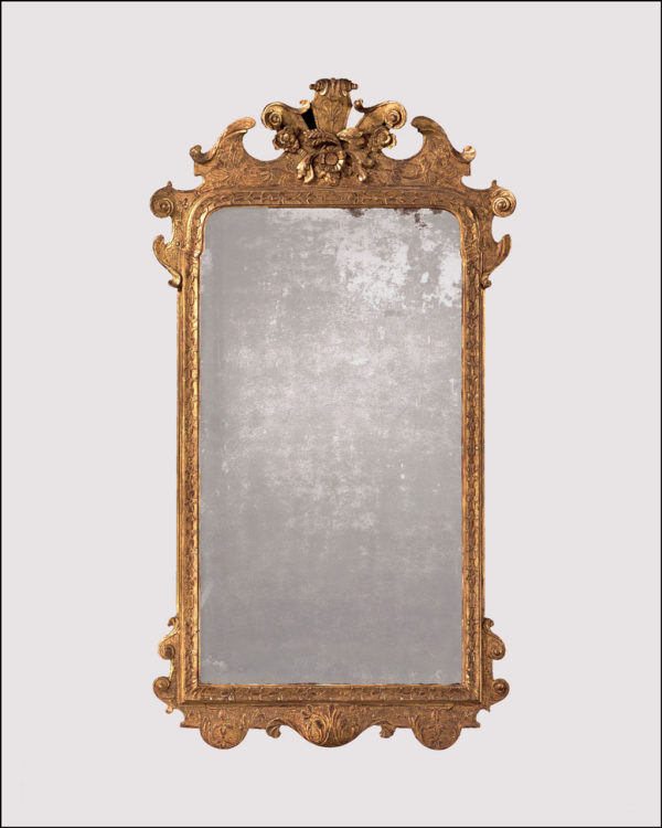 A George I Carved Gesso Mirror