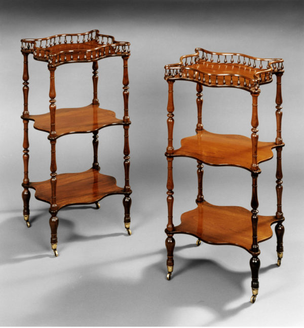 A Pair of Early Nineteenth Century Rosewood Etageres