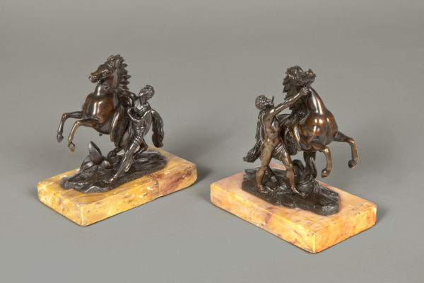 A Pair of Bronze Models of the Marly Horses