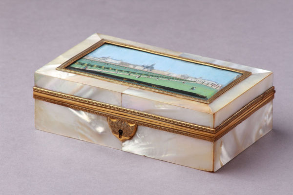 A Viennese Mother of Pearl Trinket Box