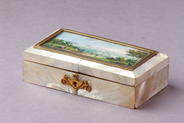 A Viennese Mother of Pearl Sewing Box