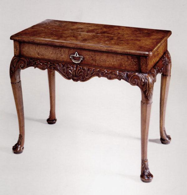 A George I Burr Walnut Side Table