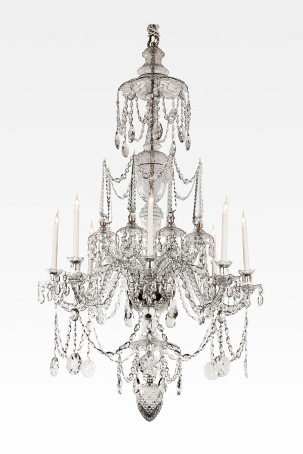 An Highly Important Continental Cut Glass Chandelier